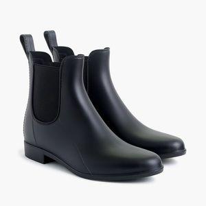J Crew Mercantile Chelsea Rain Boot Shoe Black 7